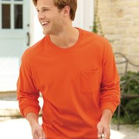 Tagless® Long Sleeve T-Shirt with a Pocket