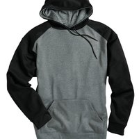Sport Pro Heather Raglan Sleeve Hooded Pullover